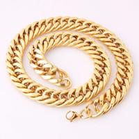 Мужские кубинские цепи ожерелье 18k позолоченные GP нержавеющая сталь цепь из нержавеющей стали хеп рок ювелирные изделия оптом