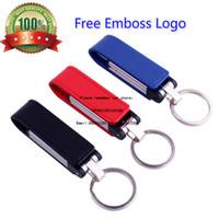 Бесплатный пользовательский логотип металлическая кожа Keychian Usb Flash Drive Memory Stick мех Pendrive 4GB 8GB 16GB 32GB 64GB тиснение художественного произведения подарок U диск 128gb