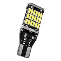 2X Yüksek Kaliteli T15 921 W16W 45 SMD 4014 LED Oto Ek Fren Lambası Yedekleme Ters Işıklar Araç Gündüz Işık Beyaz DC12V Running
