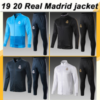 19 20 Real Madrid Full zip Jacket Suit Soccer Jerseys HAZARD...