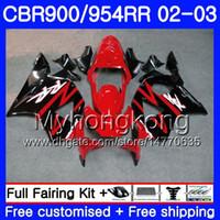 Corpo Para HONDA CBR900RR CBR 954 RR CBR900 RR Vermelho de fábrica CBR954 RR 280HM.23 CBR 900RR CBR954RR 02 03 CBR 954RR 2002 2003 kit de Carenagens
