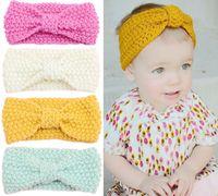 Baby Knitted Headbands Arco de Moda de Invierno Proteger el Oído Headwear Kids Girl Accesorios Para el Cabello Fotografía Accesorios Colorfull HHA389