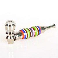 Ceramica di colore il tubo di fumo di sigaretta del metallo Tubi 10cm Lunghezza accessori Unisex vendita diretta 4 8mt H1