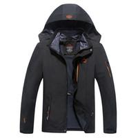 Veste New Mode Homme Pizex vêtements imperméable coupe-vent Gardez manteau chaud hommes de grande taille casual usure
