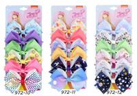 """6 Pcs 5 """"Jojo Cabelos Arcos Com Clip 54Colors Siwa Arco-íris Impresso Knot Ribbon Bow Cabelo Cabelo Acessórios Para Cabelo"""