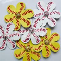 Beyzbol Çiçek Saç Klip Deri Mulitcolor Duckbill Klipler Bayanlar Cadılar Bayramı Partisi Beyaz Sarı Kırmızı Renk Sıcak Satış 9 9gyE1 Favor