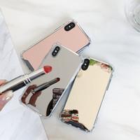 아이폰에 대한 아이폰 (11)의 경우 TPU 젤 럭셔리 디자이너 전화 케이스 소프트 커버에 대한 증명 미러 케이스 드롭 6 7 8 케이스 X