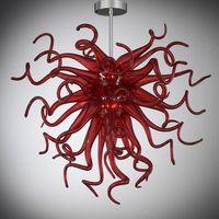 Pendelleuchte 100% Mund Geblasenes Murano Glas Kronleuchter Kunst Schlafzimmer Rot Kleine Innenbeleuchtung Italienische Möbel