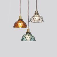 Vintage Kolye Işıklar Cam Lamba Loft Asma Işık Armatür Bar Mutfak Salon Art Deco Nordic Süspansiyon Led Hanglamp E27 I311