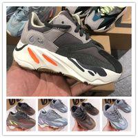 (caja) Zapatos para niños Baby Snowdler Run Sneakers Kanye West Yez 700 Zapatillas para correr Niños infantiles Niños y niñas Chaussures Vierta Enfants EUR28-35