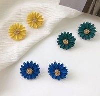 새로운 한국어 보석 진주 귀걸이 여성 긴 꽃 귀걸이 보헤미안 매달려 드롭 귀걸이 파티 선물 믹스 색상