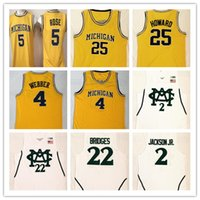 Männer Michigan State Spartans College Jersey genäht Jaren Jackson JR. MEILEN-BRÜCKEN Chris Webber Jalen Rose University Basketball-Trikots