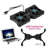Laptop Cooling Mini Fan Pad pieghevole per interfaccia USB pieghevole Protegge i fan di sicurezza per notebook da 7-15 pollici