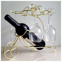 خلاقة لذيذة زجاجة النبيذ الاحمر نظارات حامل معلق رأسا على عقب كأس كؤوس عرض الرف موضة المعادن الرئيسية بار للنبيذ حامل