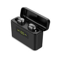 X9S TWS بلوتوث 5.0 سماعات ستيريو 9D شاشة LED سماعة الرأس اللاسلكية سماعات الأذن البسيطة سماعات مضادة للماء مع هيئة التصنيع العسكري للهواتف الذكية