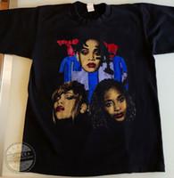 남자 티셔츠 빈티지 랩 티 TLC 1995 힙합 티셔츠 왼쪽 눈 90S VTG 재판 S-XXL