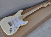 Factory Wholesale Cream Electric Guitar with Maple Fretboard...