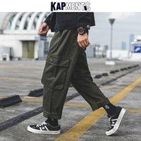 KAPMENTS Hombres Harajuku grandes bolsillos de los pantalones de Carga 2020 Trajes para hombre japonés Streetwear Harem flojo masculino Kpop Joggers