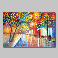 Mintura Art Large Hand Painted Palette Knife Landscape Oil Painting For Living Room Home Decor Wall Art Pictures Canvas Paintings Original