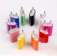 Universal EU USA Fettwandadapterstecker USB Home Reise Ladegerät Power Cube 1A E Zigarre für Mobile Smartphone iPhone