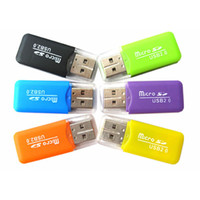 Alta velocidade Mini USB 2.0 T-flash leitor de cartão de memória TF Card Reader micro SD leitor de cartões Adaptador