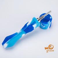 Kit de Coletor de Néctar de Silicone com Ponta de Aço Inoxidável 10mm Kit de Silicone NC dab oil rig wax