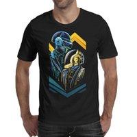 Mode Mens Daft Punk Edm Tour Costume et cravate T-shirt rond T-shirt Casual Superhero Shirts Alive Logo Poker K Casque Master K