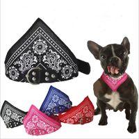Pet Dog Bandana Scarf Headerchief Dog Banda Регулируемый треугольник шарф ошейники Pet Cat щенок ошейники собак аксессуары для собак напечатанные шарфы LSK81