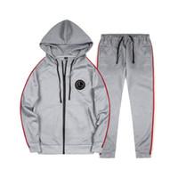 Men's Tracksuits Tracksuit per uomo 2 pezzi set moda giacca sportswear felpa con cappuccio primavera autunno designer vestiti con cappuccio + pantaloni EUR.