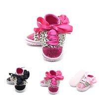 Moda Bebê Crianças Meninos Meninas Calçados lantejoulas leopardo sapatos Lace Up Sneakers antiderrapante Trainers macias