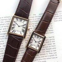 Männer und Frauen Uhren Qualitäts-Luxus-Uhr für Frauen-Kleid-Geschäfts-Uhr-Quarz-Bewegungs-Lederband Wasserdicht Deisgner Uhren