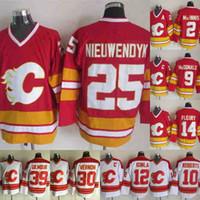 Calgary Flames 30 Mike Vernon 14 Theoren Fleury 2 Al Macinnis 12 Iginla 9 Lanny McDonald 10 Gary Roberts 25 Joe Nieuwendyk Hokey Jersey