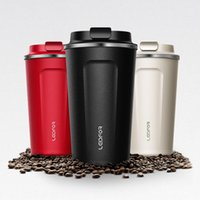 Mugs With Lid Milk Stainless Steel Vacuum Flask Insulated Th...