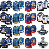 Louis Blues 2019 Stanley Cup Final Şampiyonlar Hokey Formaları Vladimir Tarasenko Jersey 90 Ryan O'Reilly Colton Parayko Steen Streated