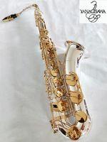 العلامة التجارية الجديدة ياناجيساوا W-037 تينور ساكسفون الفضة تصفيح الذهب مفتاح المهنية ياناجيساوا سوبر تلعب ساكس لسان الحال مع حالة