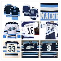 Custom NCAA Мейн Черные Медведи Хоккейные майки для мужчин 33 ДЖИММИ ХОВАРД 9 ПОЛ КАРИЯ 3 РОБ МИШЕЛЬ ЧЕЙЗ ПИРСОН МИТЧЕЛЛ Фоссье Мюльбауэр
