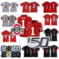 2020 NCAA Ohio State Buckeyes Jersey 1 Justin Campos 2 perseguição Young 7 Dwayne Haskins Jr 97 Nick Bosa 15 Elliott OSU College Football Jersey