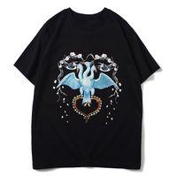 Мужская футболка Hip Hop Bird Печать Mens Стилист Футболка с коротким рукавом высокого качества Мужчины Женщины Футболка Polo Размер S-XXL