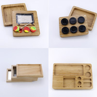 Multi compartments bamboo silicone storage kit with 7ml wax ...
