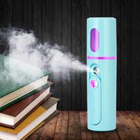 Cuidado Portátil USB Nano rociador de la niebla facial cuerpo del nebulizador vapor humidificador hidratante de la piel de la cara mini spray instrumento de la belleza