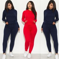 Autumn Women Tracksuits Designer Casual Solid Color Pullover Tracksuits Active Style Two Piece Outfits Womens Clothing