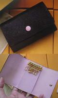 M61285 6 키 홀더 키 파우치 지갑 다미에 캔버스 카드 동전 지갑 열쇠 고리 여성 남성 클래식 여섯 열쇠 고리 패션 모노그램 키 체인 61285