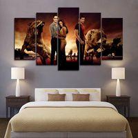 Обрамленные 5 шт. Twilight Saga Movie Wall Art HD Печать Холст Картина Мода Висит Фото Спальня Декор