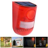 Blinkt Solar-Ton Alarm Stroboskop Bewegungs-Sensor-Sicherheits-Warnungssystem Sirene für Haus Villa Farm Hacienda Apartment