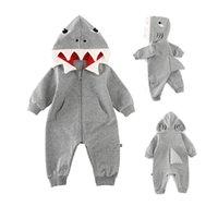 الرضع حديثي الولادة رضيع رومبير مقنع 3D القرش الديناصور زي طفل القطن هالوين عيد الميلاد الحيوانات حللا واحد للأطفال حجم