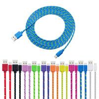 cable de datos micro USB tipo C colorido 1M 3 pies cable de carga rápida para el cable del cargador rápido de los teléfonos celulares USB para Samsung