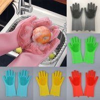 Magic Cleaning Gloves Silicone Non- slip Dishwashing Gloves K...