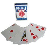 마술사를위한 자전거 빈 돌아 가기 표준 얼굴 재생 카드 강력 접착 갑판 포커 특수 소품 가까이 무대 마술 트릭 소품