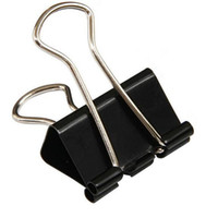 19mm Clips Ableiten liefert Multifunktions Metall Mini-Klemme langer Schwanz Geldbuchstaben Tickets Clip