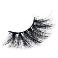 25mm 밍크 속눈썹 5D 밍크 머리 가짜 속눈썹 3D 밍크 머리 두꺼운 긴 속눈썹 수제 컬 DHL 무료 재단